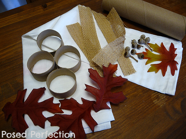 Posed perfection diy autumn leaf napkin rings for Diy fall napkin rings