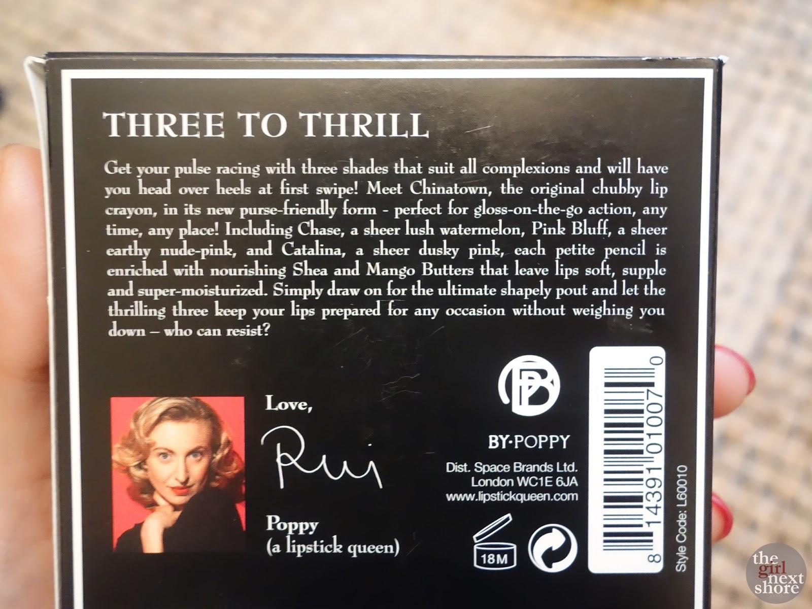 Lipstick Queen Three to Thrill Chinatown Glossy Pencil Trio