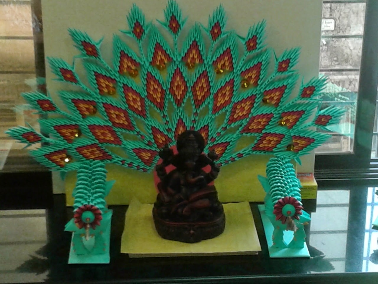 Paper Craft Ganpati Decoration