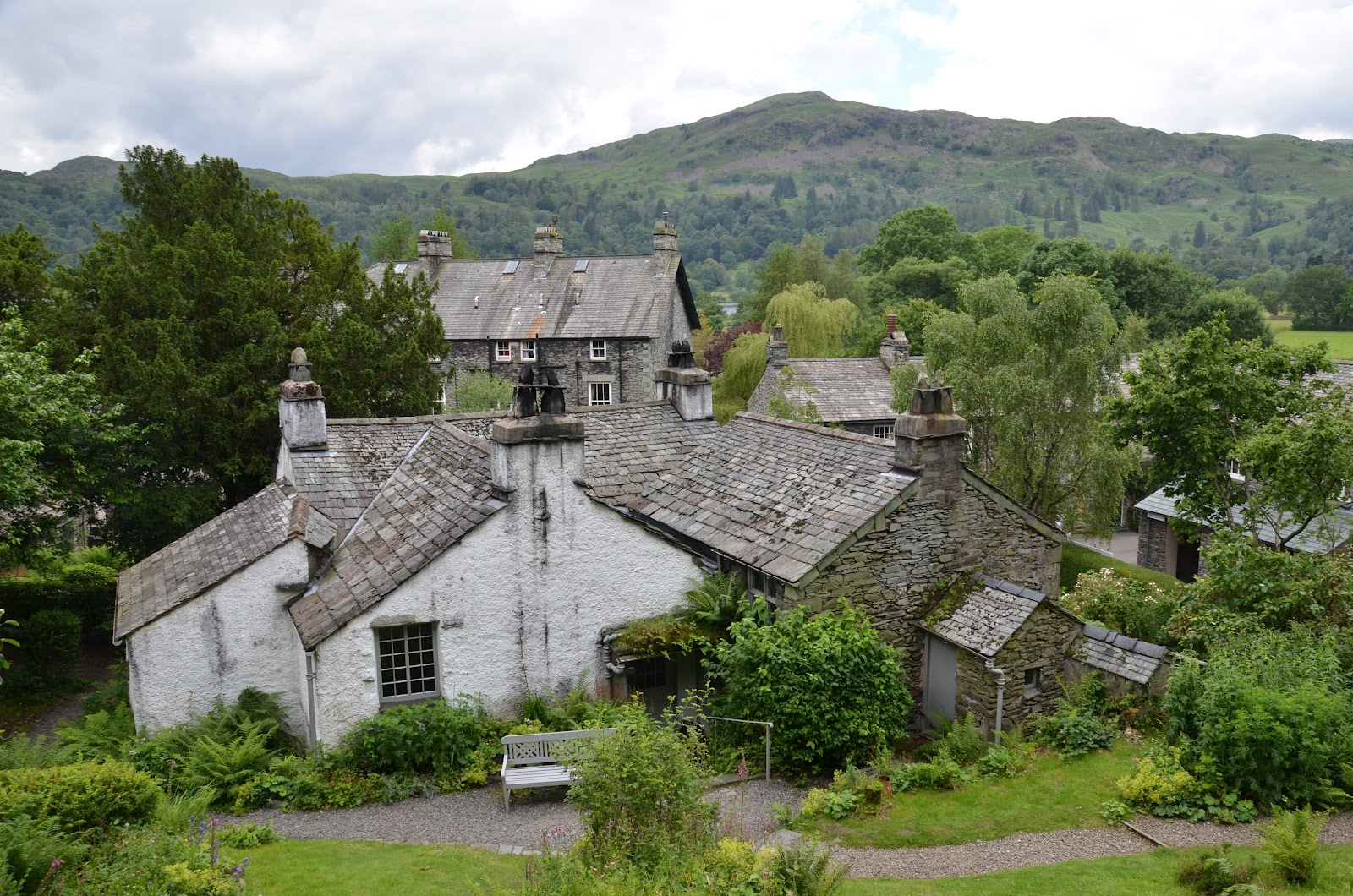 baugh s blog photo essay wordsworth s lake district homes looking down towards the back of dove cottage from the back of the garden