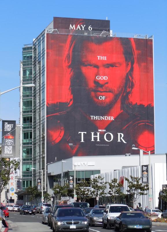 Giant Thor movie billboard