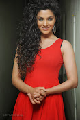 Saiyami Kher Hot in Red at Rey Trailer launch-thumbnail-6