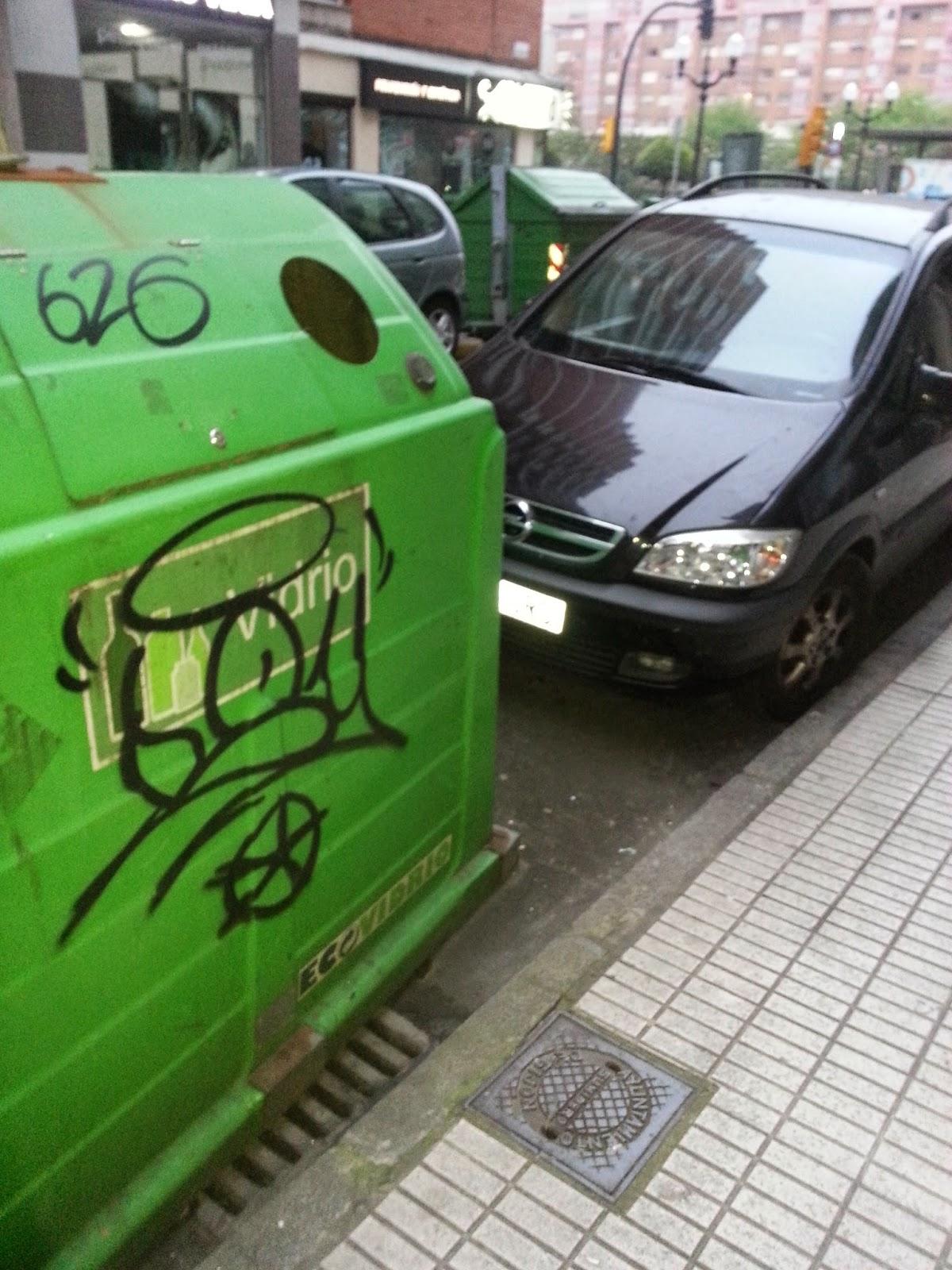 Contenedor, Vandalismo, Pintadas, Grafitti