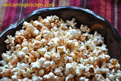 Popcorn with Gluten-free Spice Blend, vegan