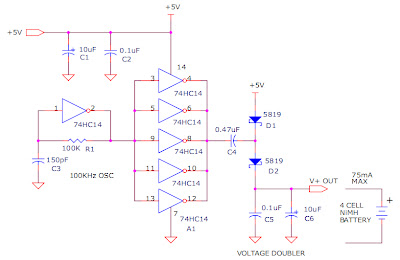 Circuit Projects: +5v Powered Charge Pump Battery Charger