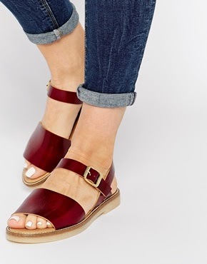 ASOS FARAZ Two Part Crepe Sole Sandals