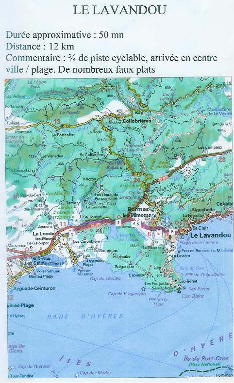 Avélonde: Les parcours