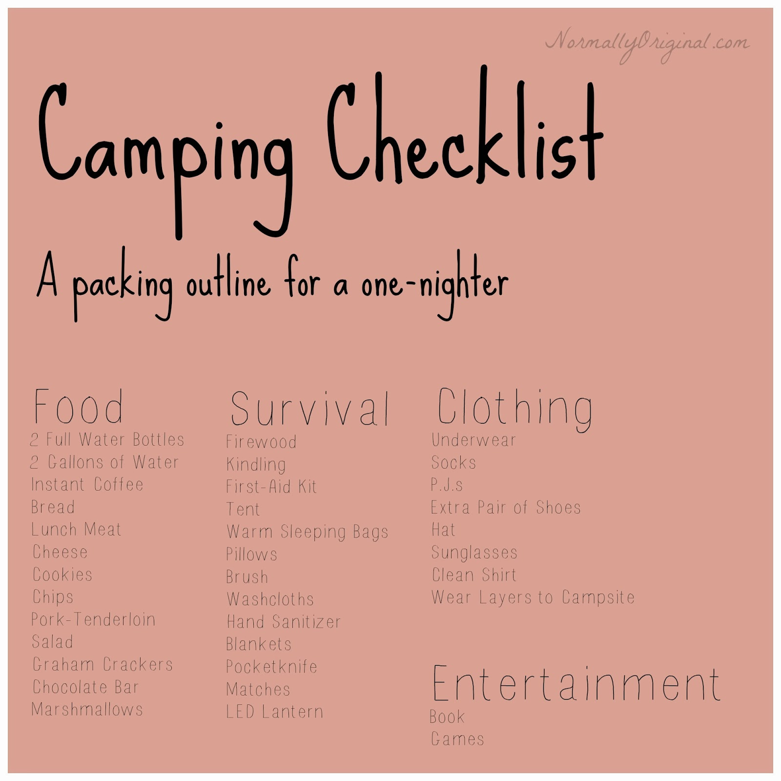 And Stepping Into REIs Backpacking Section Was More Than A Little Overwhelming So Here You Are The Basic One Night Car Camping Check List For Two