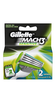 Paytm : Buy Pack Of 2 of Gillette Mach3 Sensitive Refill 2 Count at Rs.465 after cashback – Buytoearn