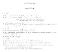 Subiecte titularizare matematica - Bucuresti 2009