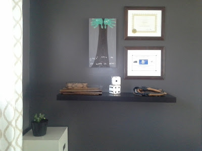 Home office floating shelf