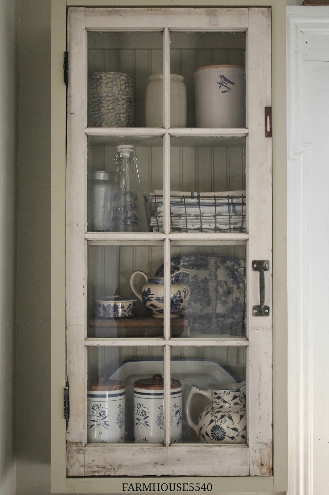 FARMHOUSE 5540 A New Cupboard With An Old Window