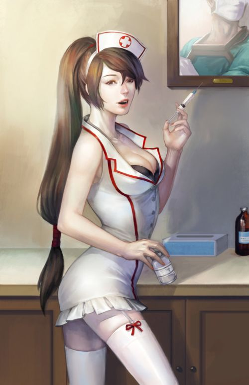 Noa Ikeda deviantart illustrations women female characters fantasy Sexy nurse