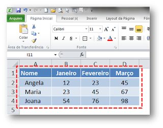 Corresp, Excel, Desloc