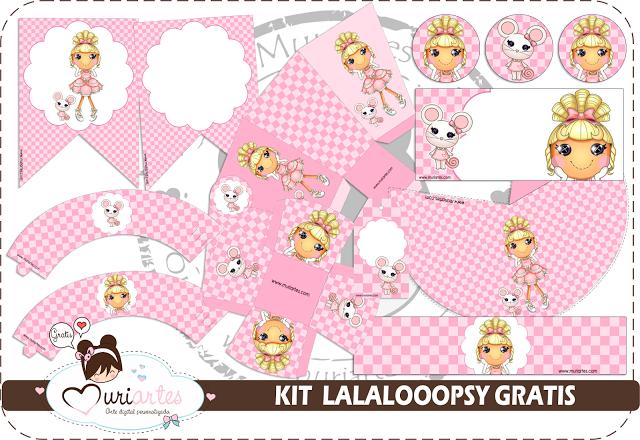 Lalaloopsy: Kit para Imprimir Gratis.