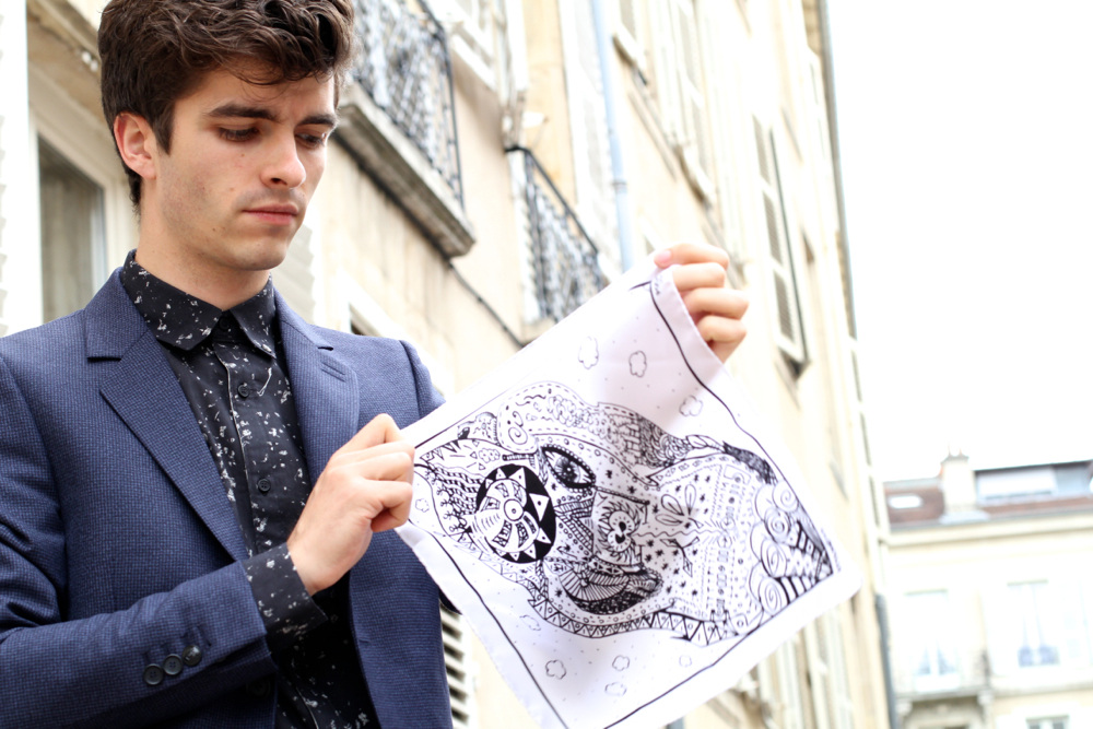 BLOG-MODE-HOMME_Pochette-Square_x_STYLNOXE_Preppy_cobranding_Dandy_illustrateur_IKKS-marbre_paris_mensfashion