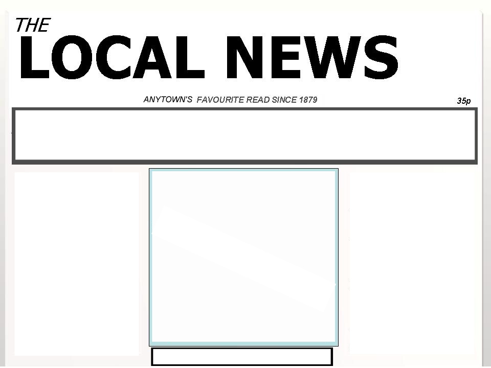 Blank Newspaper Template For School Project Militaryalicious