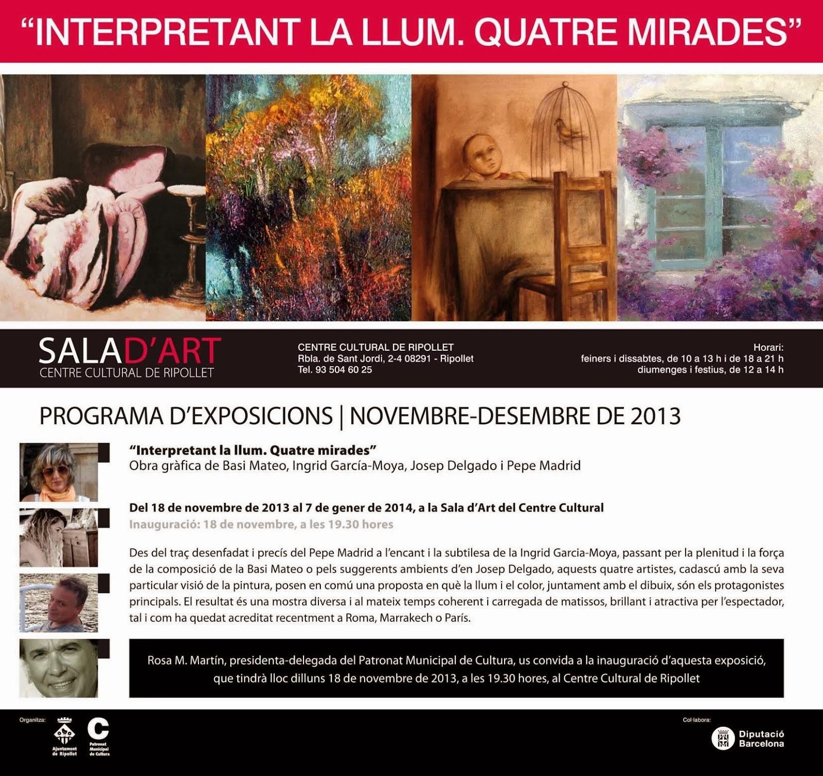 EXPOSICIÓ RIPOLLET INTERPRETANT LA LLUM - QUATRE MIRADES / DESEMBRE 2013 - GENER 2014