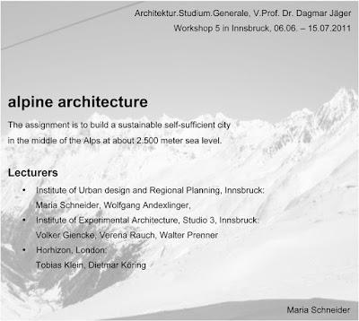 EAD | ASG 2011-06-06 | WS5 Innsbruck – Alpine Architecture