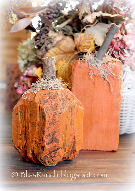 Landscape Timber Pumpkins, Bliss-Ranch.com