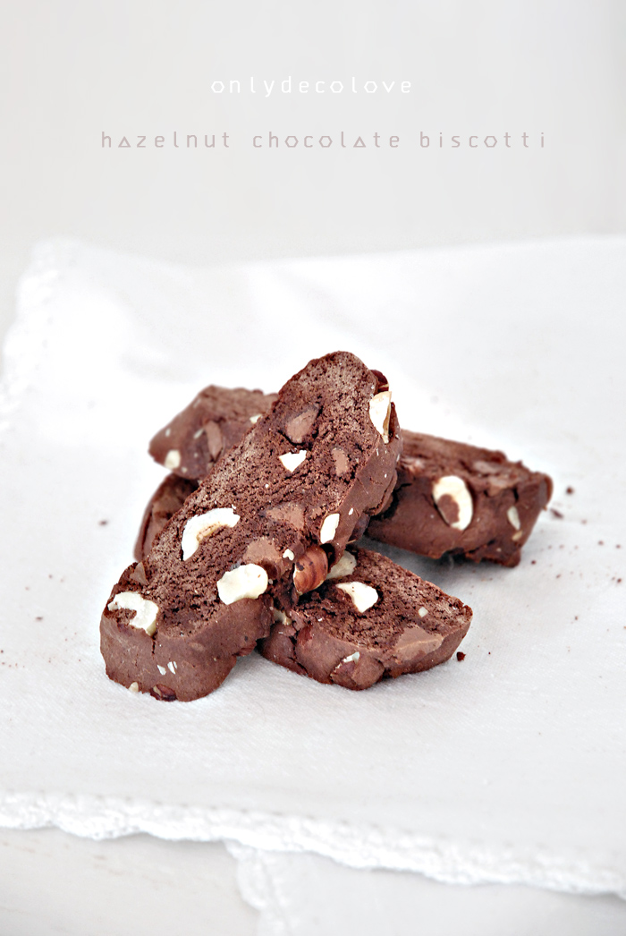 Only Deco Love: Chocolate Hazelnut double baked Biscotti