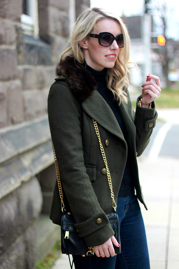 fur collar coat