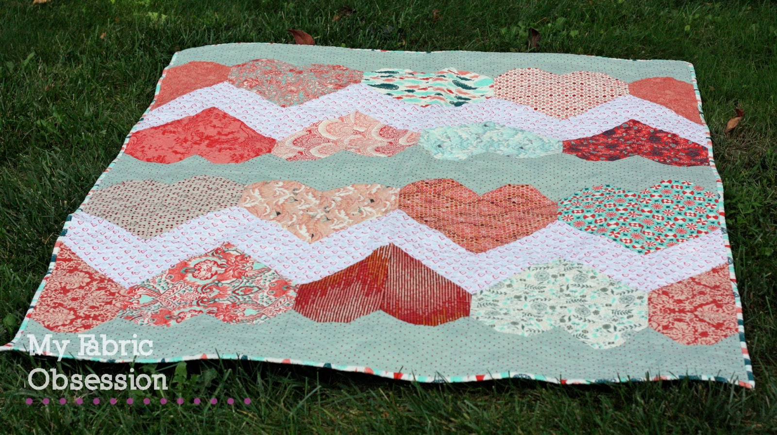My Fabric Obsession: A Heart Quilt