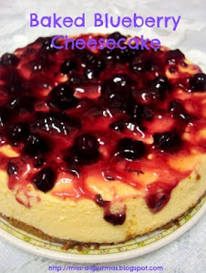 Untuk Tempahan : Baked Blueberry Cheese Cake
