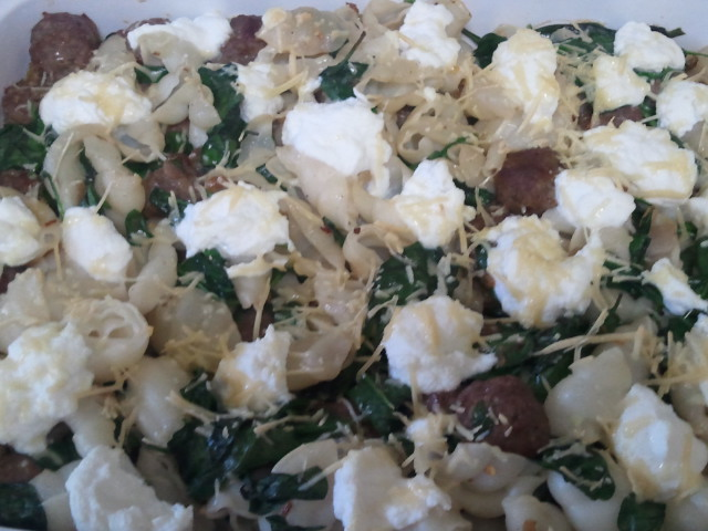 Bec Cannon's Recipes: Baked Shell Pasta with Sausage