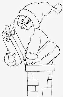 Dibujos de Santa Claus para Pintar, parte 1