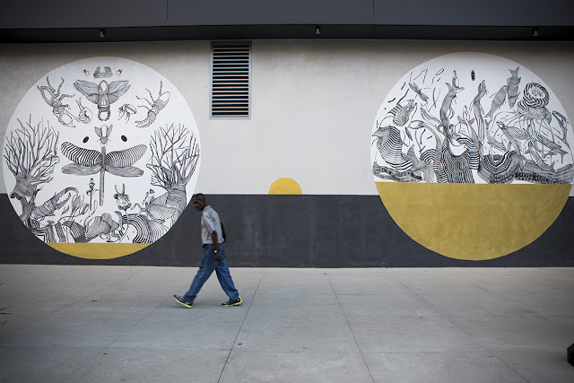 Our friend 2501 spent a few weeks in sunny Los Angeles where he was invited by the good lads from Do Art Foundation to work on a series of new pieces.