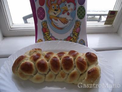 húsvéti fonott kalács recept