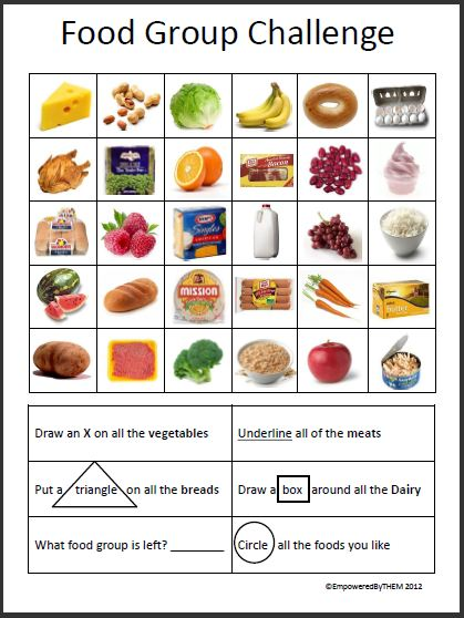 Food Group Worksheets | ABITLIKETHIS