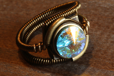 Steampunk crystal ring