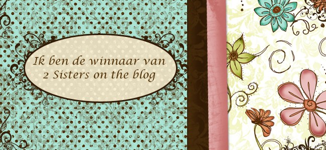 Winnaar bij 2 Sisters on the blog