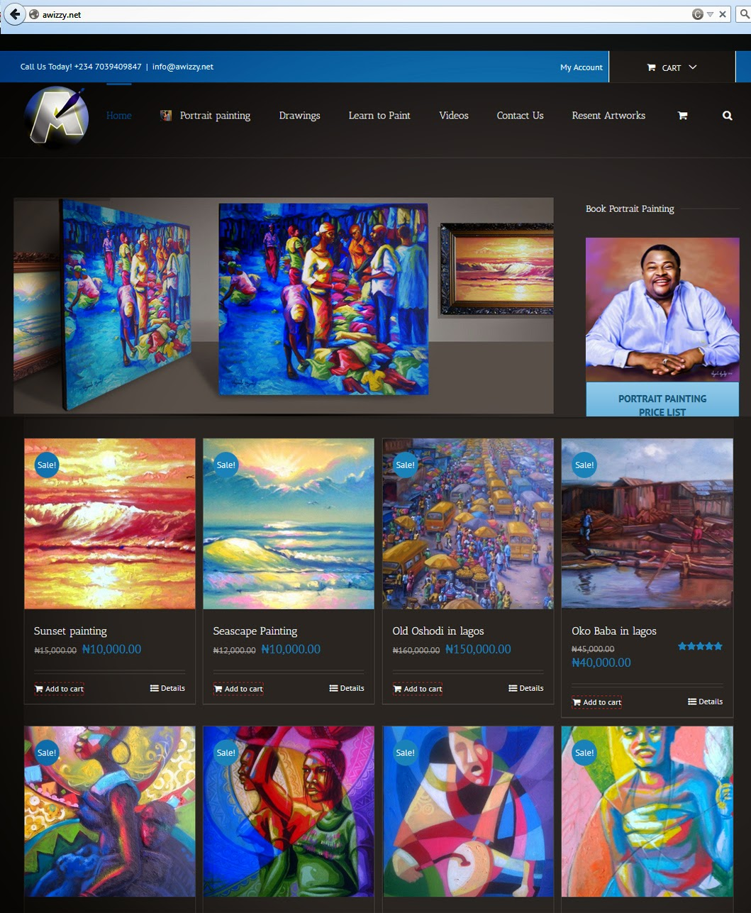 the african no 1 art website in Nigeria