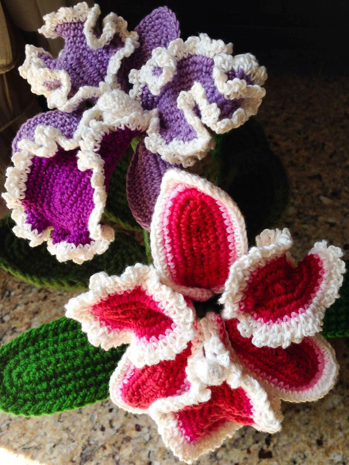 Crochet Free Patterns To Download : crochet rockstar: Cattleya Orchid Crochet Flower