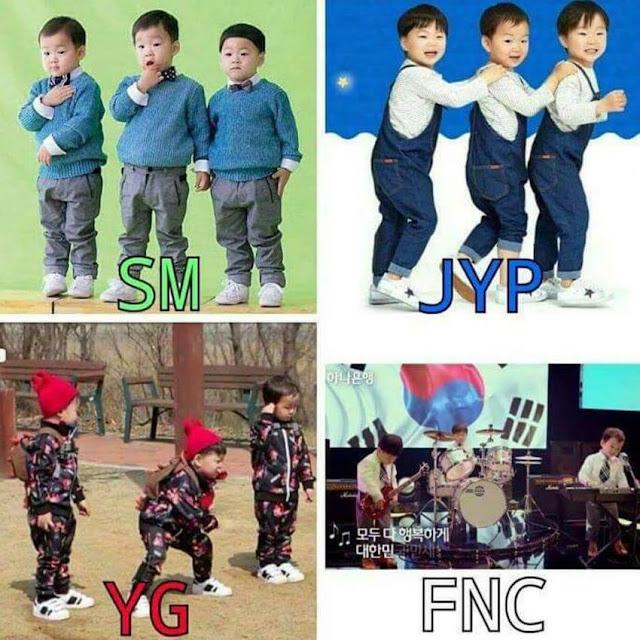 삼둥이가 SM, JYP, YG, FNC에 갔을 때.jpg | 인스티즈