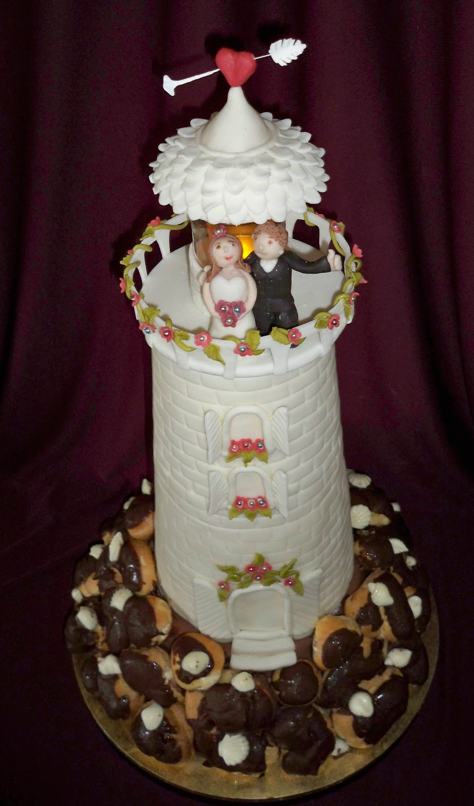 Light House Tower Wedding Cake