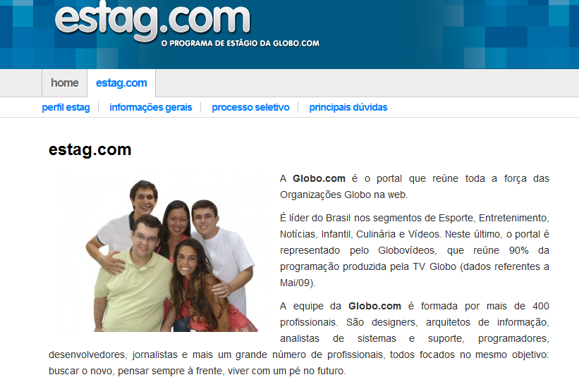 Trabalhar na Globo