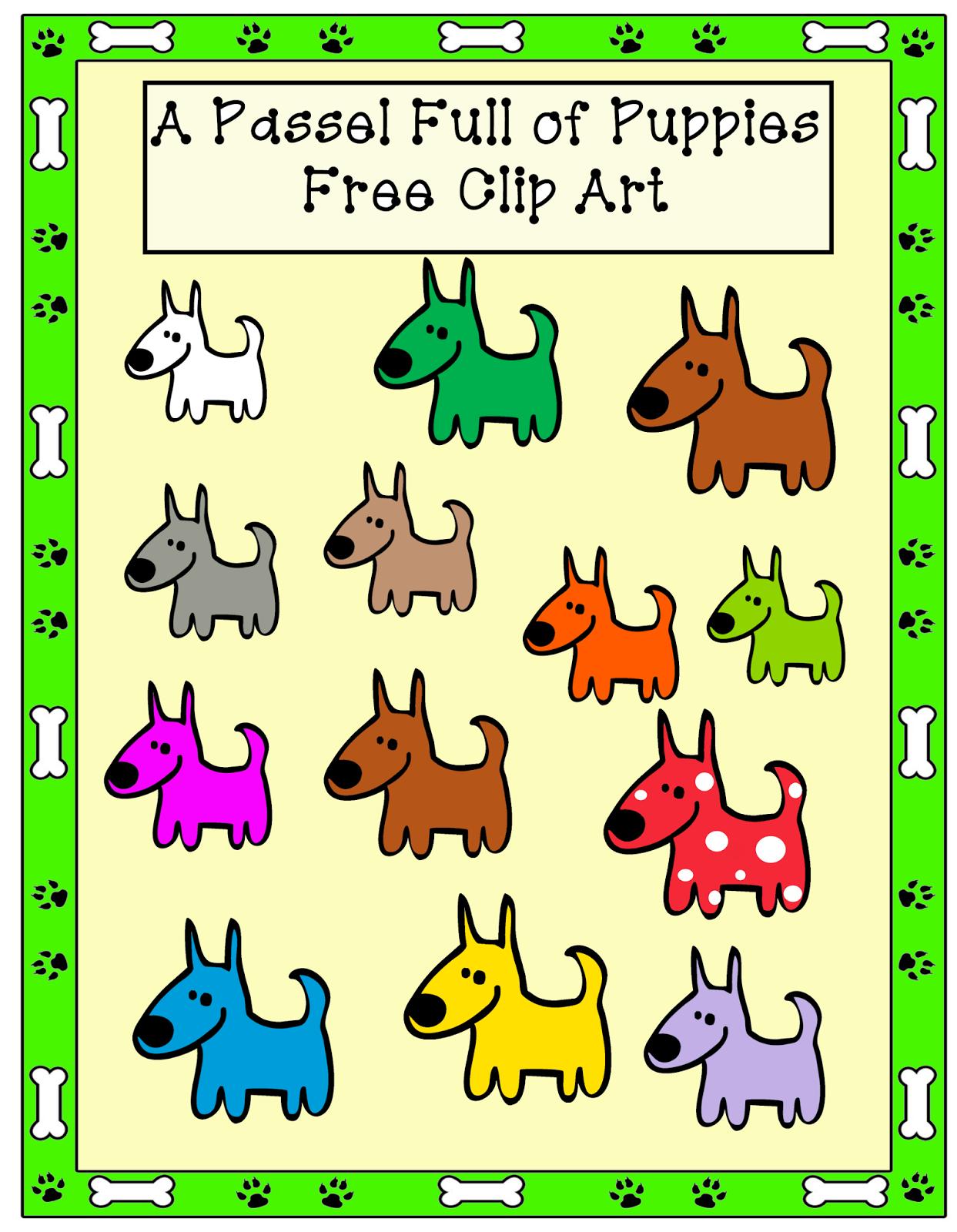 http://grannygoestoschool.blogspot.com/2014/08/passel-full-of-puppies-free-clip-art.html