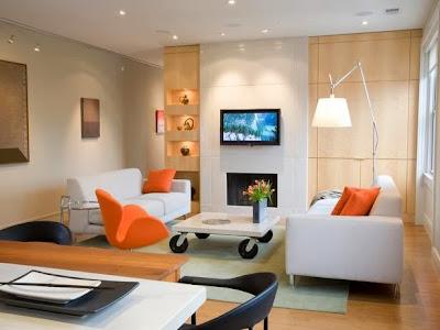 dekorasi ruang tamu; pencahayaan lampu bangkitkan suasana