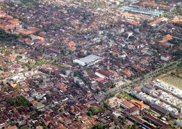 Denpasar City in Bali Indonesia