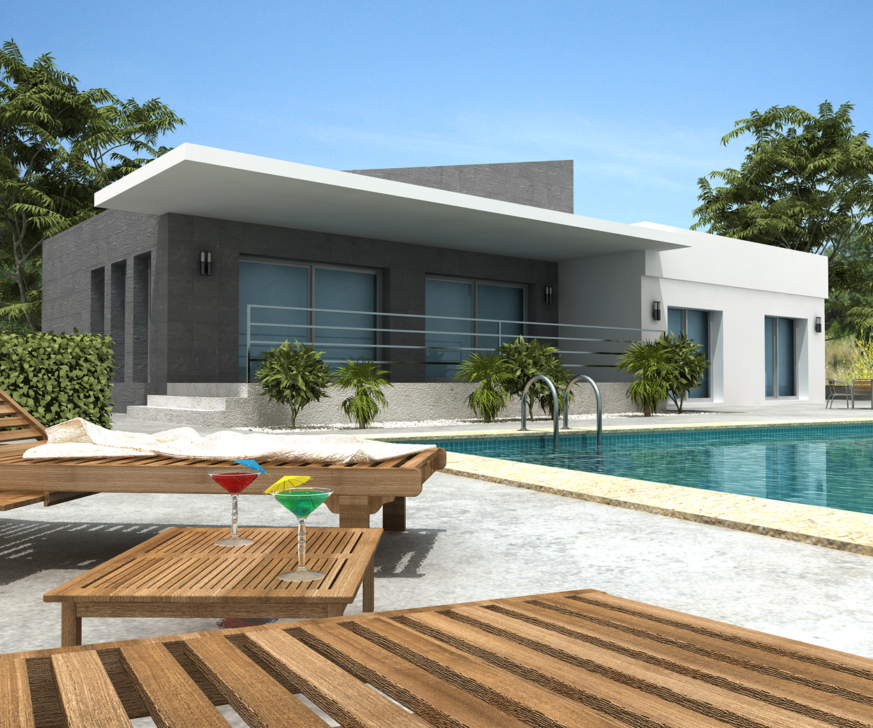 Modern villa designs modern home designs for Designers homes