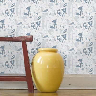 Forest - animals childrens wallpaper