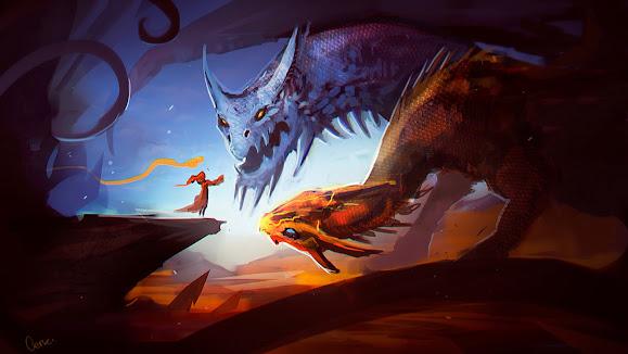 lina the slayer and jakiro twin head dragon dota 2 hero