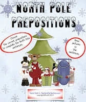 photo of North Pole Prepositions, grammar, ELA, teacherspayteachers,com