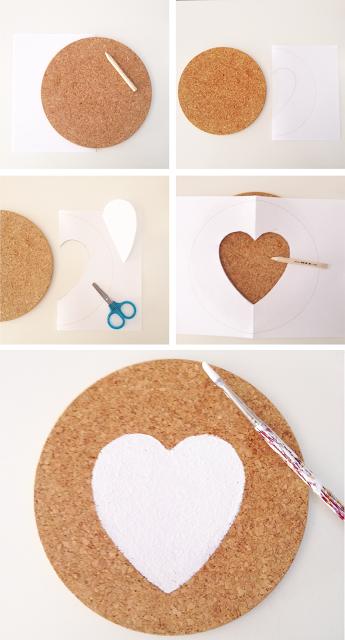 Alfombrilla de ratón hecha con corcho en Recicla Inventa