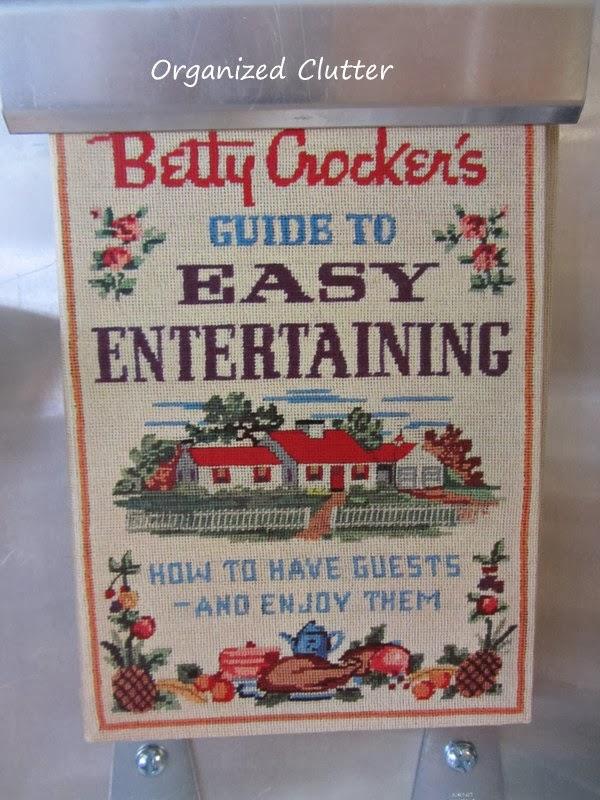 Vintage Cookbooks wwww.organizedclutterqueen.blogspot.com