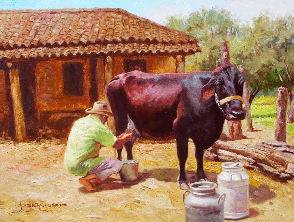 Im genes arte pinturas pinturas paisajes del campo alonzo morales venezuela - Cuadros de vacas ...